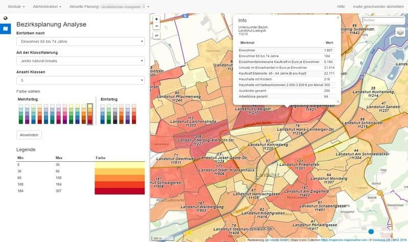 Gebietsstrukturen analysieren optimieren