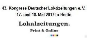 Kongress des Verbandes deutscher Lokalzeitungen