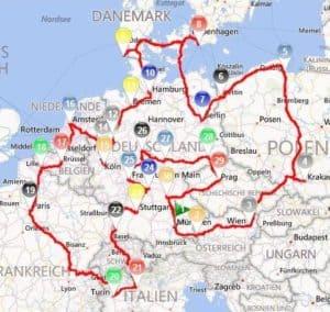 Online Routenoptimierung Programm für ganz Europa und die Welt
